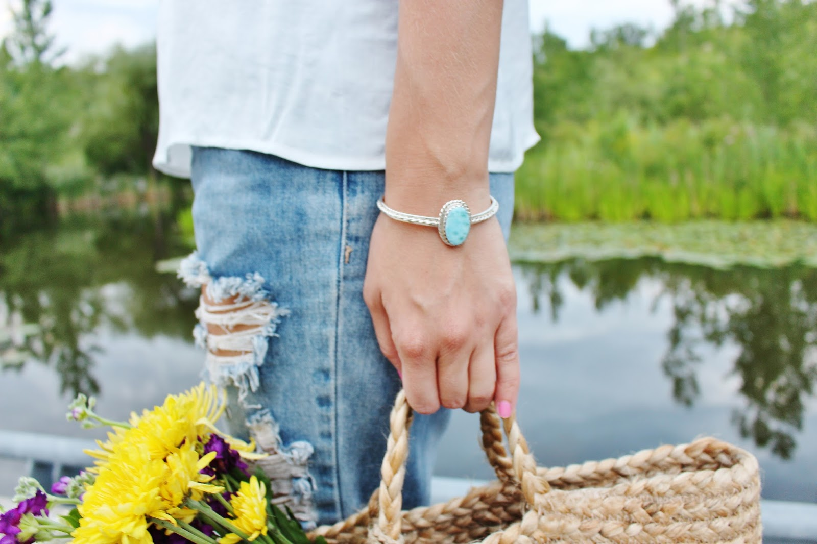 bijuleni-larimar bracelet