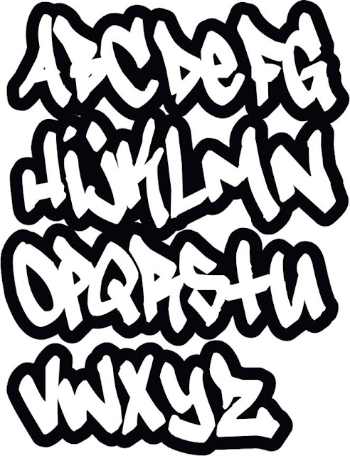 Graffiti art alphabet a-z, graffiti schrift abc