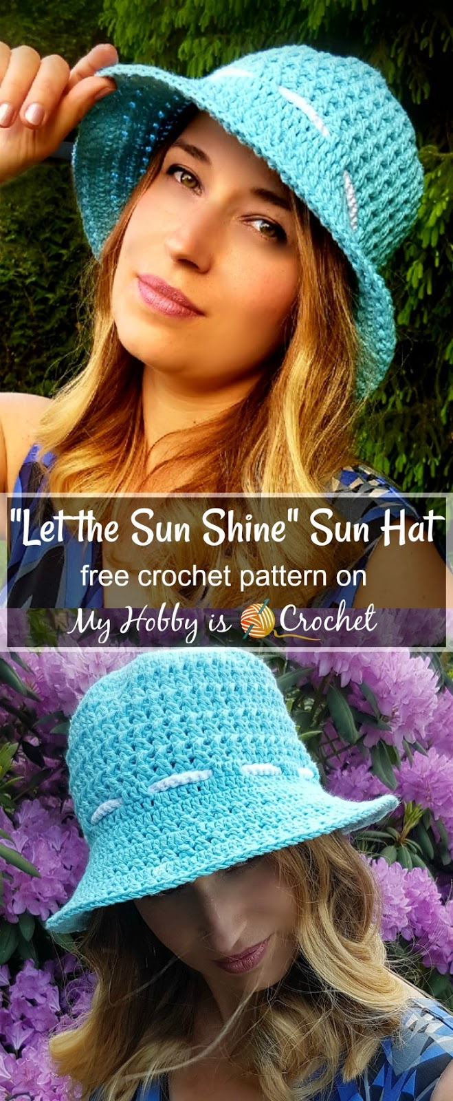 """Let the Sun Shine!"" Sun Hat - Free Crochet Pattern on myhobbyiscrochet.com"