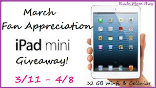 March Fan Appreciation iPad mini Giveaway