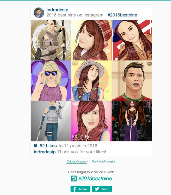 #2016bestnine Instagram