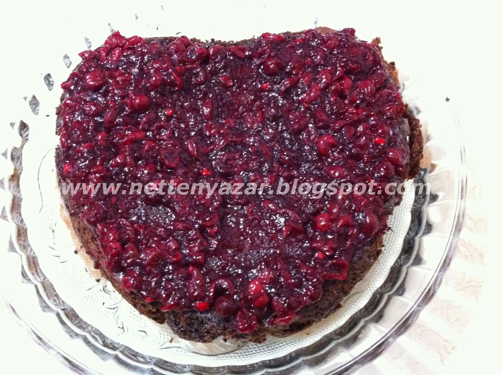chocolate cherry wet cake