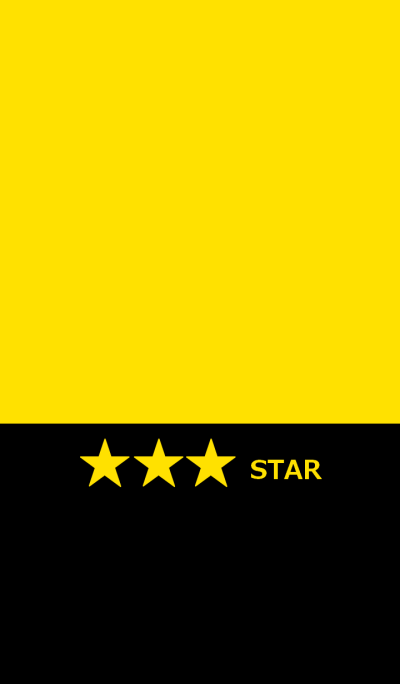 Simple star and yellow