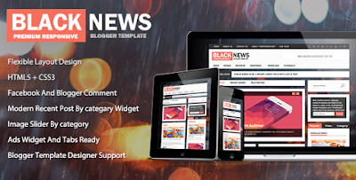 BlackNews Blogger Template