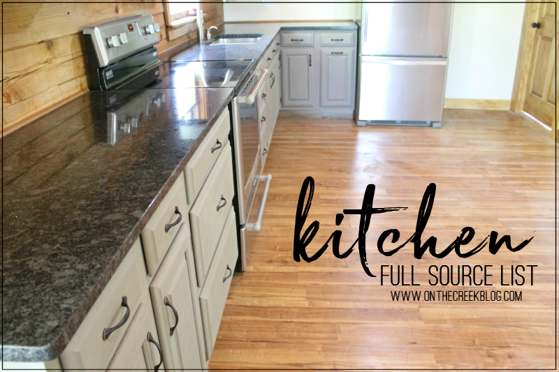 The full source list for everything in my custom kitchen!