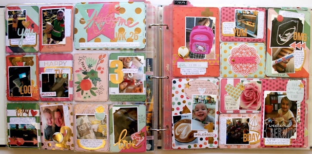 """Week 26"" project life layout by Bernii Miller using the My Minds Eye "" On Trend two"" collection."