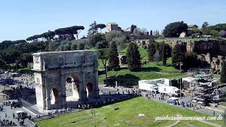 terceiro anel arco constantino guia brasileira - Os subterrâneos do Coliseu