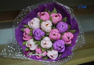 hoa tulip giấy