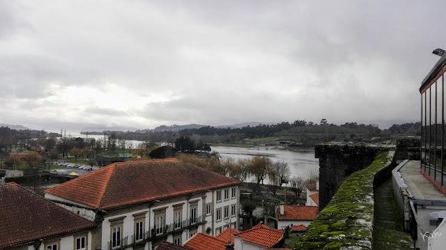 Vista sobre o rio do Castelo de Vila Nova de Cerveira