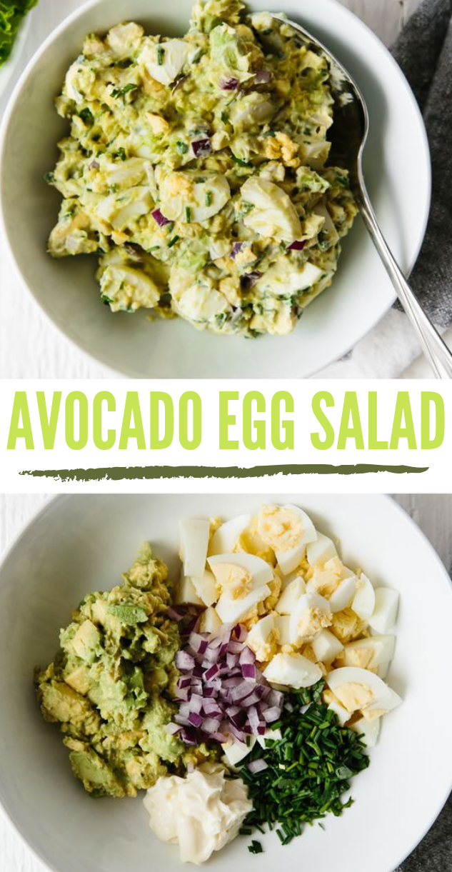 AVOCADO EGG SALAD #salad #vegetable