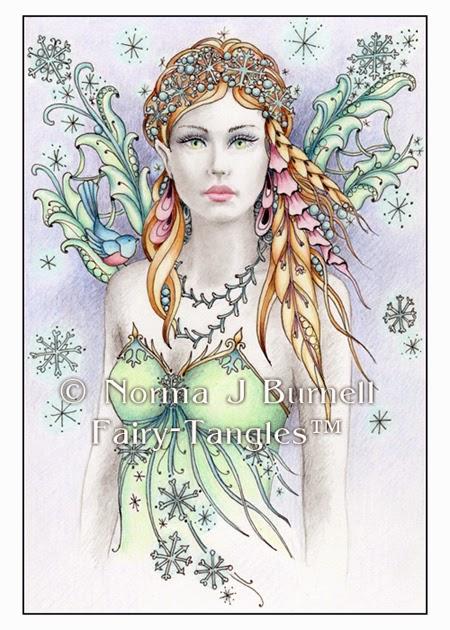 "Fairy Tangles: ""Snowbird Fairy"" - Original Fairy-Tangle ..."