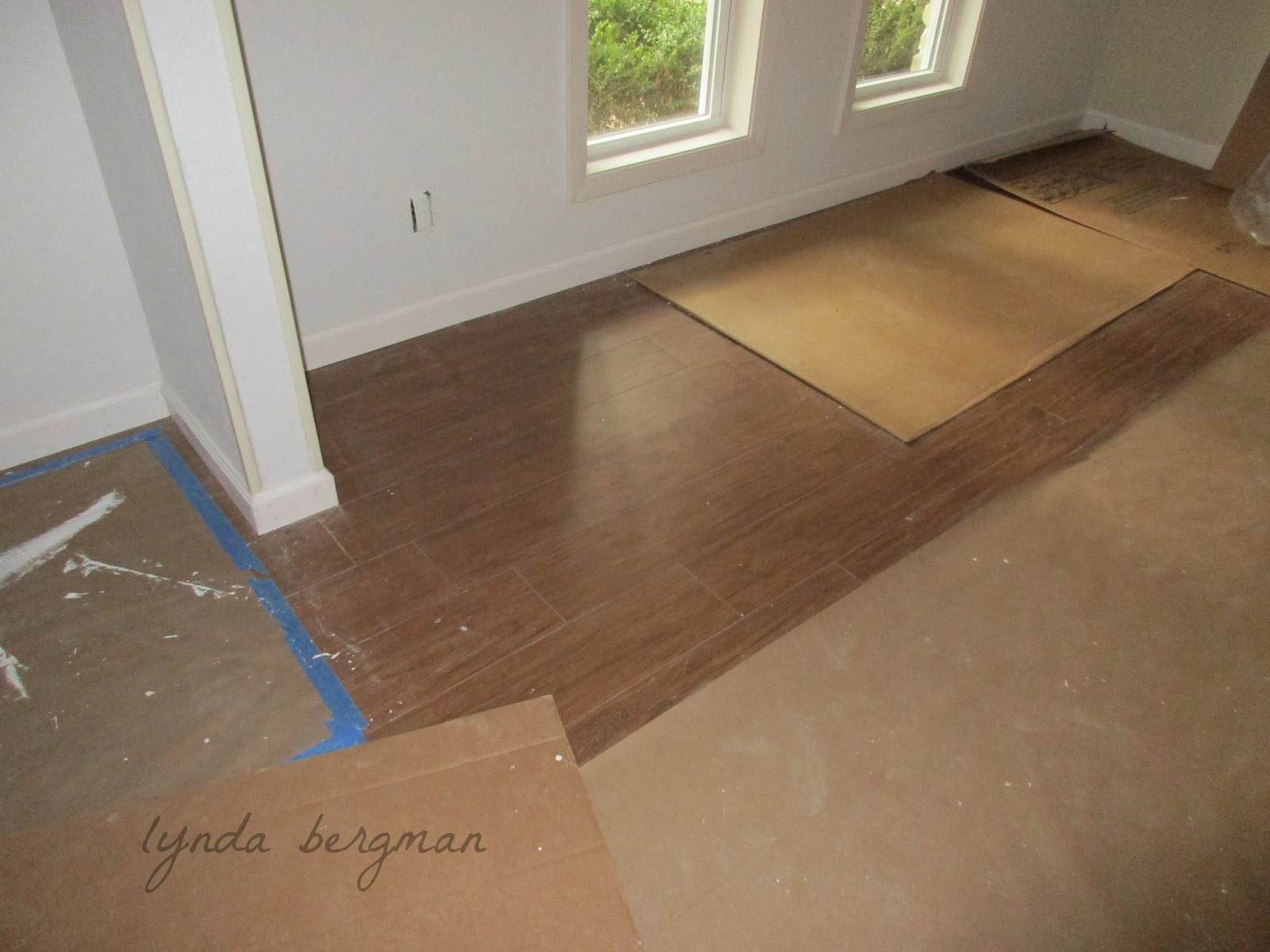 Lynda Bergman Decorative Artisan Tile Flooring That Looks Like Wood