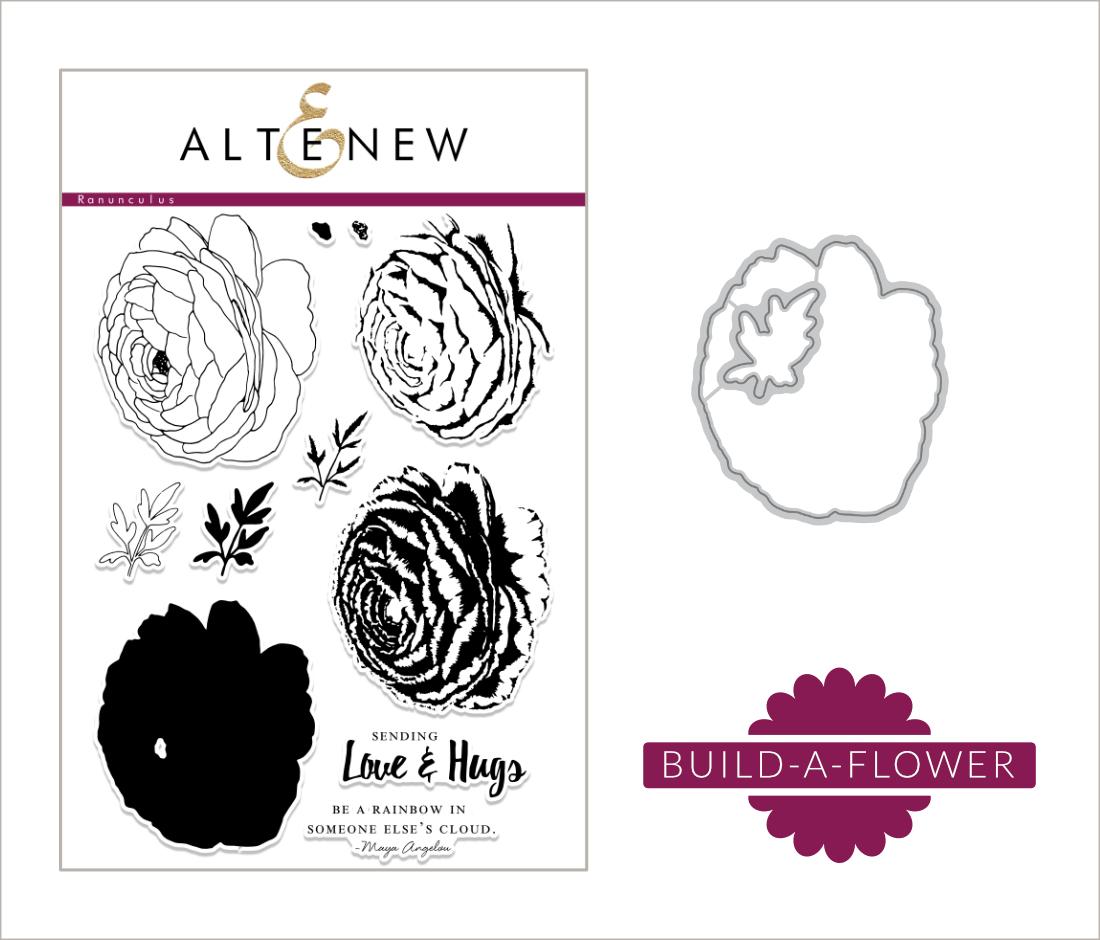 Liliths Scrapbooking Venture Altenew Build A Flower Ranunculus