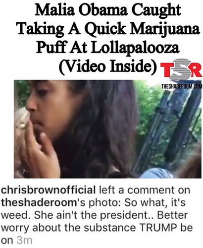 689acc19a18 President Obama s Daughter Malia Caught Smoking Marijuana Weed ...