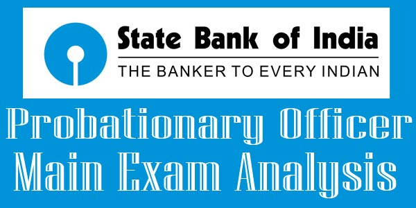 31 July SBI PO Mains Exam Analysis 2017