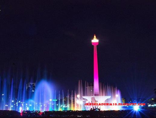 Pesona Keindahan Air Mancur Menari Monas Jakarta