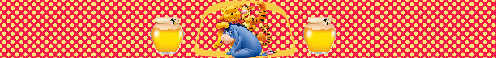 Cute Winnie the Pooh: Free Download Candy Bar Labels.