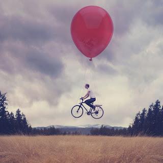 Fotomontaje con bicicleta