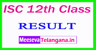 ISC 12th Class Result 2017
