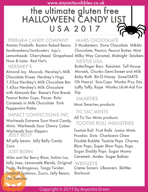 The Ultimate Gluten Free Halloween US Candy List Anyonita Nibbles Gluten Free