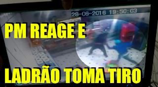 [VÍDEO] PM REAGE E LADRÃO LEVA A PIOR