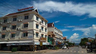 Main road at Luang Namtha's new town