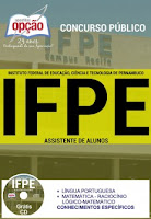 Apostila concurso IFPE pernambuco 2016 Assistente de Alunos e Auxiliar em Administração