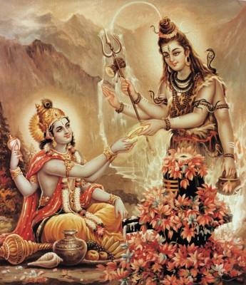 Lord Krishna Image with Shiva