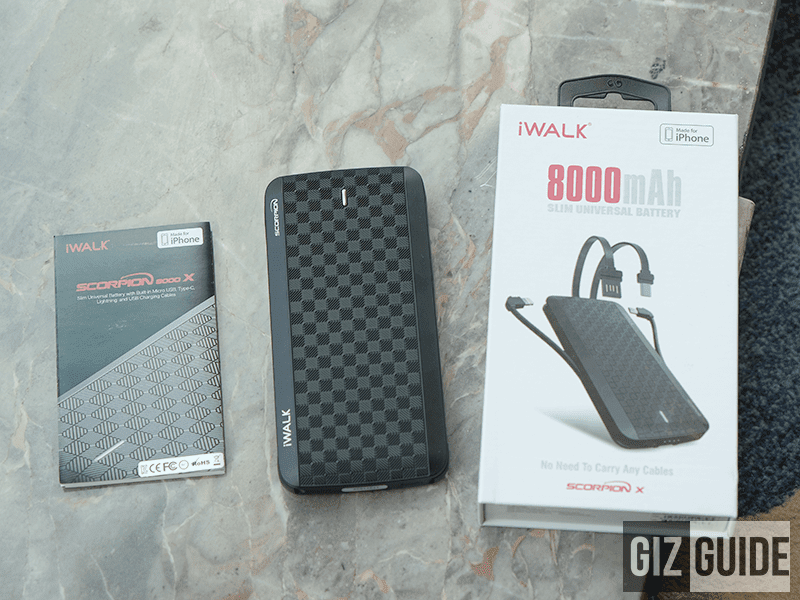 iWalk Scorpion 8,000mAh (UBT 8000X) universal power bank is now available at Shopee Philippines