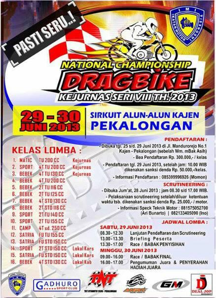 Jadwal Drag Bike Minggu Ini 2930 Juni Drag Bike Kejurda