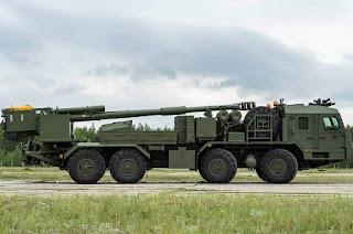Howitzer Swa-Gerak 8x8 2S43 Malva 152mm