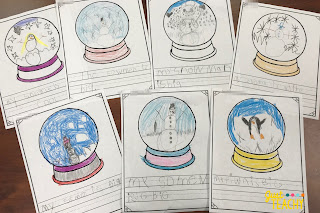 Snow Globe Writing Freebie