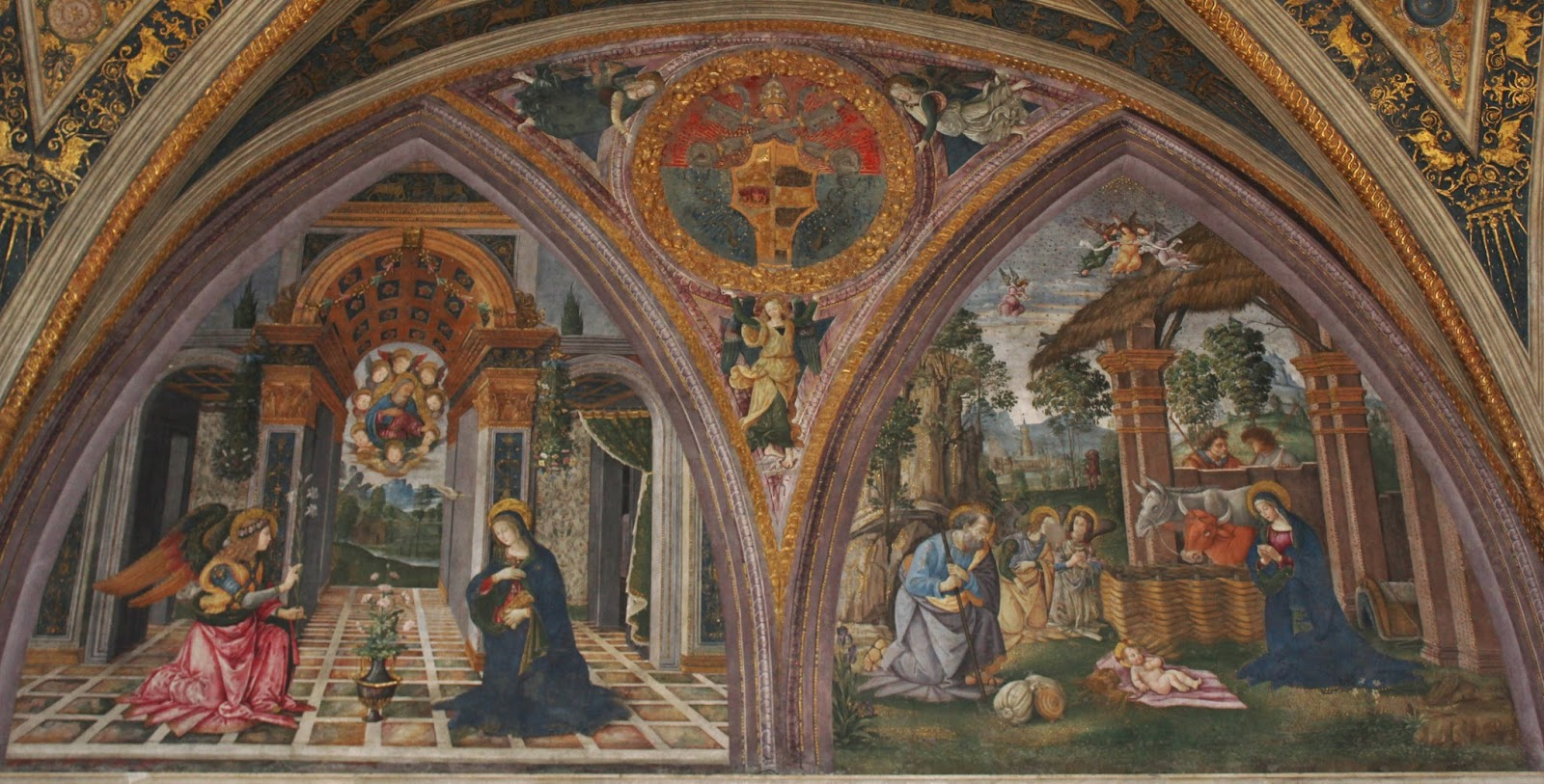 Pintoricchio Worked On The Rooms Between 1492 And 1494, After The Death Of  The Pope The Rooms Were Abandoned By His Rival Successors And Were Only  Opened To ...