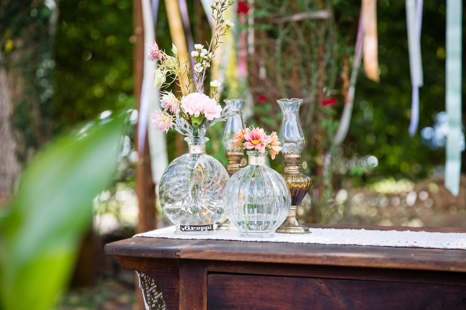Vasi di vetro per matrimonio