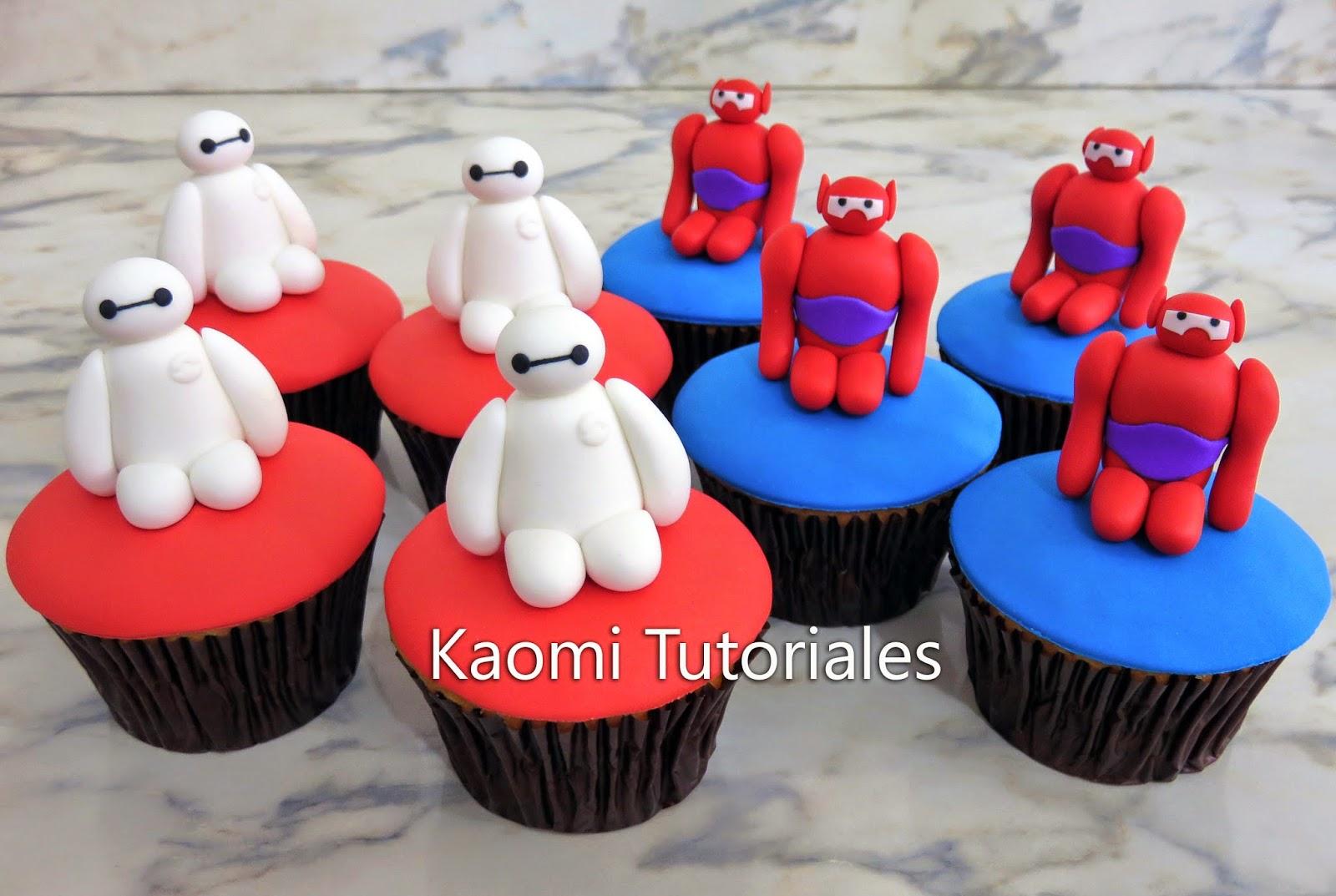 Kaomi Tutoriales Como Hacer Cupcakes De Baymax Grandes