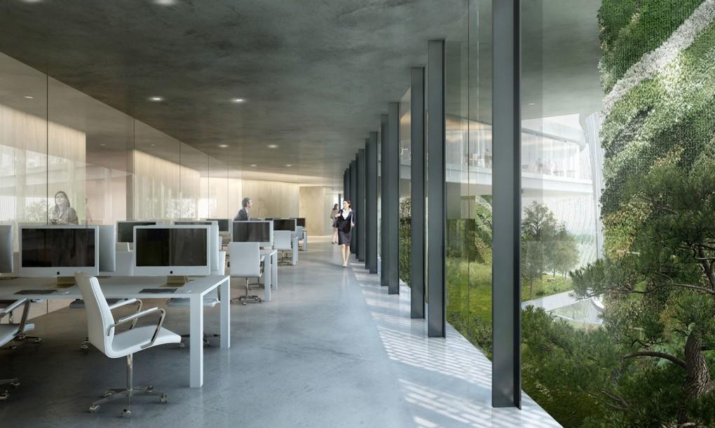Impresionante el dise o del centro for Jardines pequenos para oficina