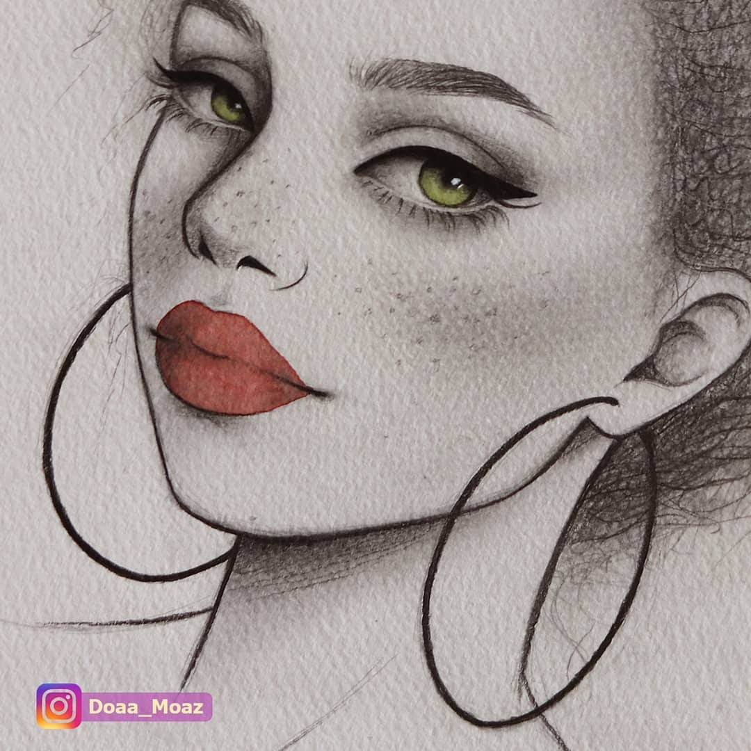 12-Doaa-Moaz-Female-Portrait-Drawings-www-designstack-co