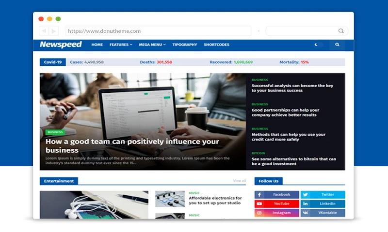 Newspeed Premium Blogger Template - Responsive Blogger Template