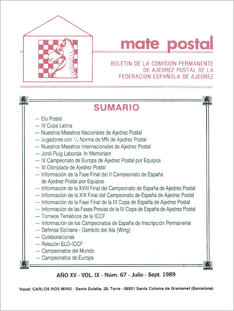 Mate Postal Nº67-Julio-Septiembre-1989