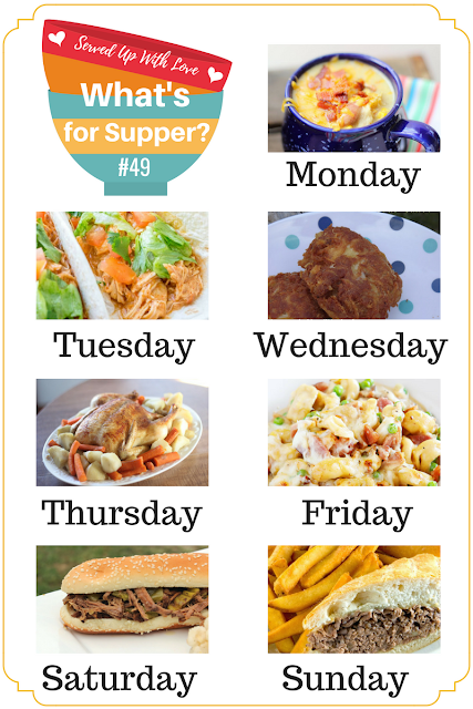 Oven Roasted Chicken, Popa's Mashed Potatoes, Cheddar Biscuits and more in What's for Supper Sunday weekly meal plan.