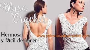 Blusa Crochet muy chic para todos los talles / Paso a paso