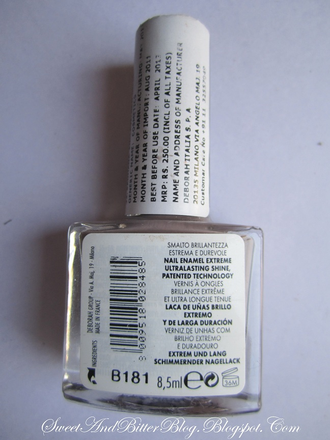 Deborah Milano Shine Tech 57 Nailpolish Taupe Grey Nail Polish India
