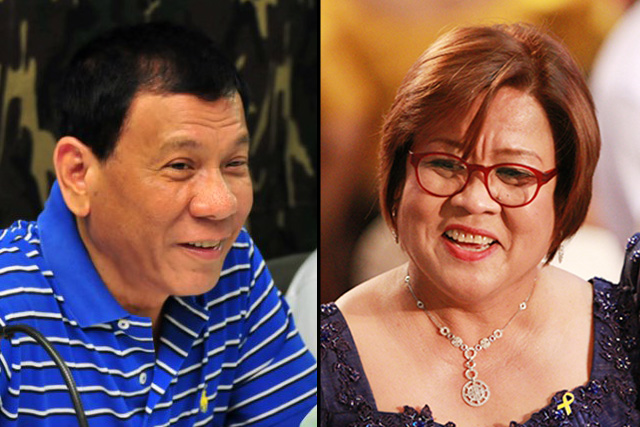 De Lima: Duterte's rise in surveys 'extremely frightening and disturbing'