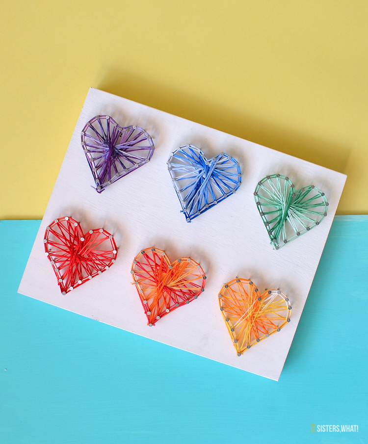 simple heart string art tutorial