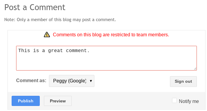 Control who can comment on your Blogger blog posts