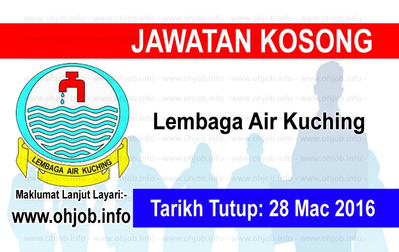 Jawatan Kerja Kosong Lembaga Air Kuching logo www.ohjob.info mac 2016