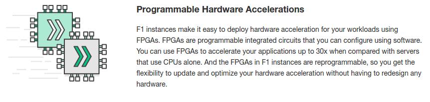 Amazon EC2 F1 with FPGAs for custom hardware acceleration - Silicon