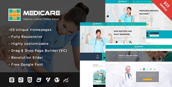 Medicare - Medical and Health Responsive WordPress Theme