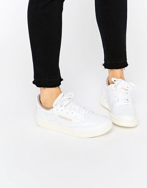 White club C85 perforated leather court trainer, $105.14 from Reebok