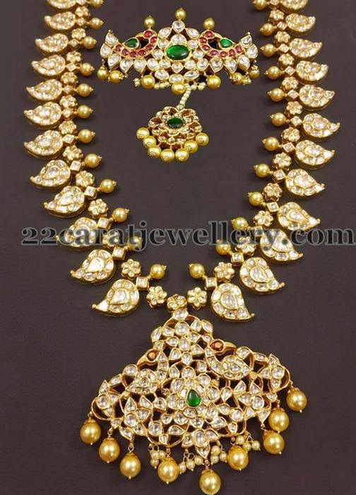 Mango Mala With Bajuband Jewellery Designs